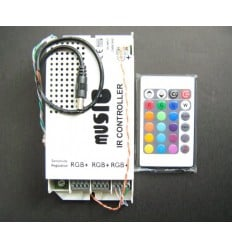 Music Activated RGB Strip Controller - 60W / 5A