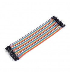 Male to Male Breadboard Jumpers - 40pcs 20cm