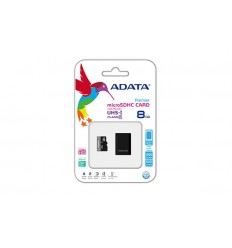 Micro SD Card 8GB Class 10 Adata with SD Adapter