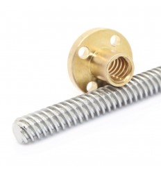 8mm Metric Acme Lead Screw Only - 200mm