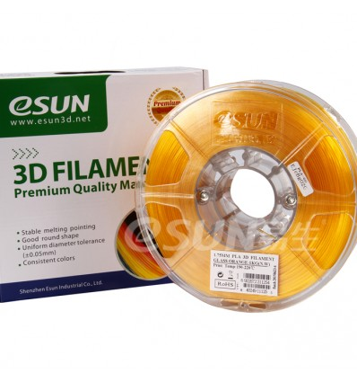 Orange Transparent PLA 1.75mm 1kg ESUN