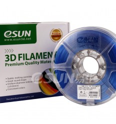 eSUN PLA Filament - 1.75mm Light Blue Transparent