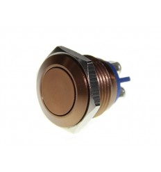 Metal Push Brown 16mm Anti Vandal