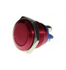 Metal Push Red 16mm Anti Vandal