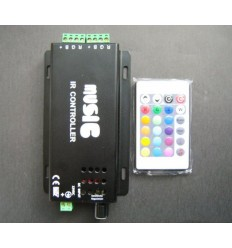 Music Activated RGB Strip Controller - 120W / 5A