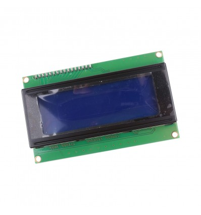 LCD Display 20x4 - White on Blue - Cover