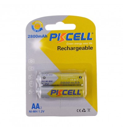 1.2V AA Rechargeable Battery 2 Pack - 2500mAh Ni-MH - Cover