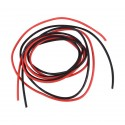 Silicone Wire Pair - Black & Red, 18AWG, 1m