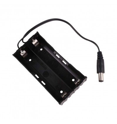 18650 Battery Holder with DC2.1 Jack - Two Slot - Cover
