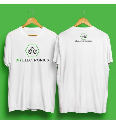 DIYElectronics SWAG - T-Shirt: Small, White