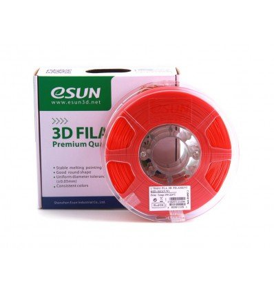eSUN PLA+ Filament - 1.75mm Red 0.5kg