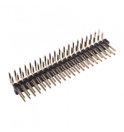40 Pin 2.54mm Right Angled DIL Pin Header - Male - Cover