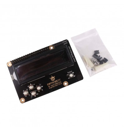 LCD Display 16x2 RGB on Black - LCD HAT with KeyPad - Cover
