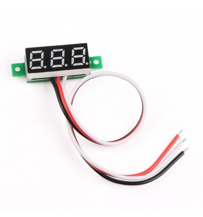 Mini 0-30V DC LED Panel Voltage Meter - Red