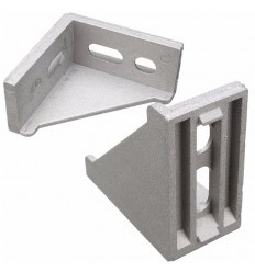 Corner Bracket 40x80 with Fastener Set - for PG40 T Slot Profile
