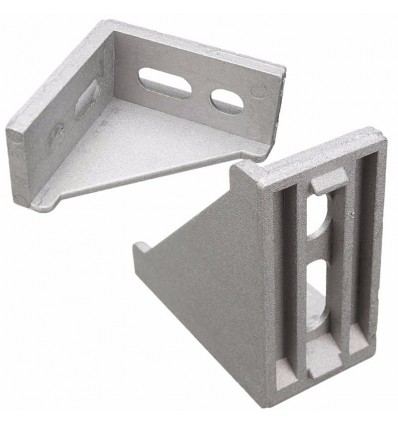Corner Bracket 40x80 with Fastener Set - for PG40 T-Slot Profile