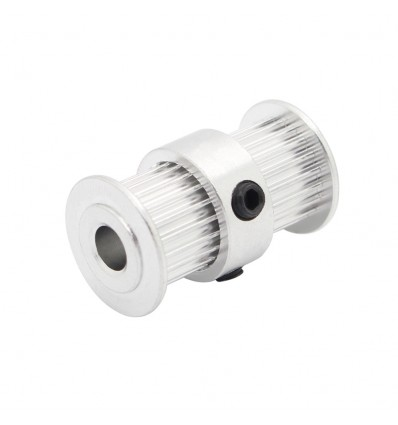 GT2 Twin Pulley - 5mm Bore, 20 Tooth for 6mm Belt