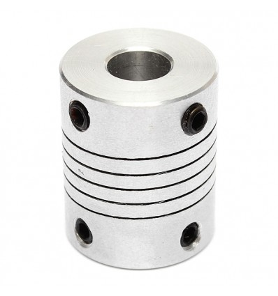 Flexible Aluminium Coupling 5mm to 6.35mm
