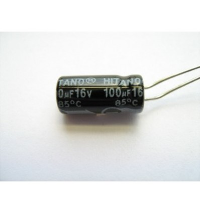 100uF 16V Electrolytic Capacitor