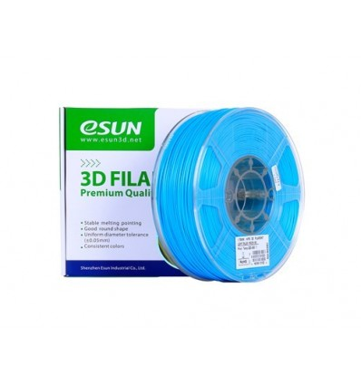 eSUN HIPS Filament - 1.75mm 1kg Light Blue
