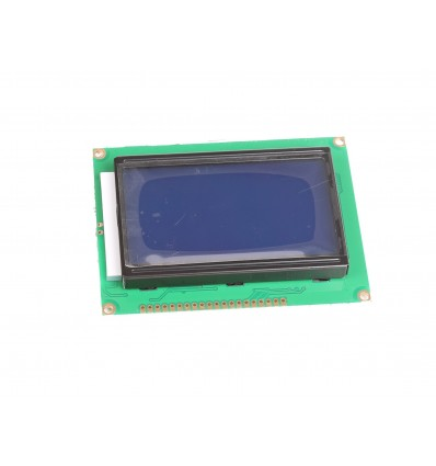 128x64 Graphic LCD Display Module - Black on Blue