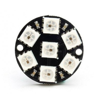 NeoPixel 7 RGB LED Ring WS2812 Addressable RGB
