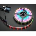 RGB LED Strip   30/m - WS2812B - 5V DC   IP65 Casing