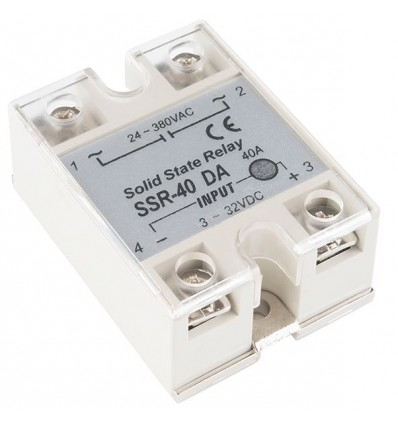 Solid State Relay SSR AC 40A (3-32V DC Input)