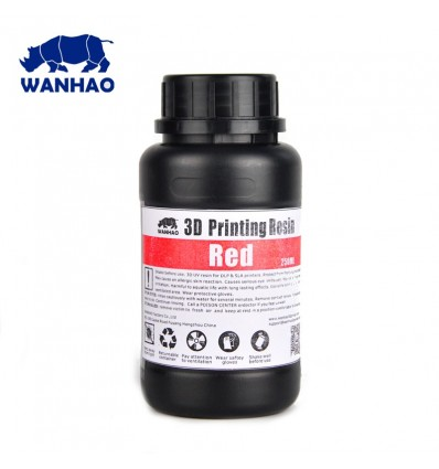 Wanhao 3D Printer UV Resin - Red 250ml