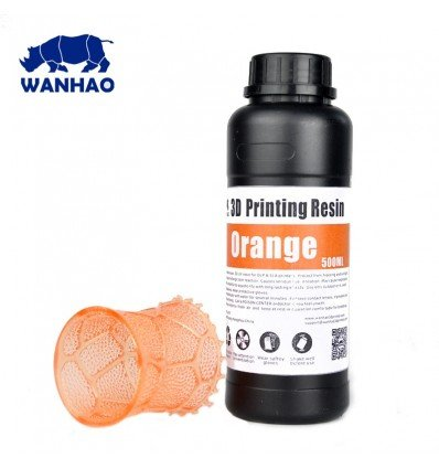 Wanhao 3D Printer UV Resin - Orange 0.5L