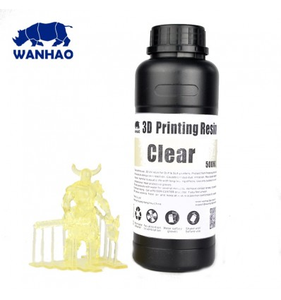 Wanhao 3D Printer UV Resin - Clear 1L