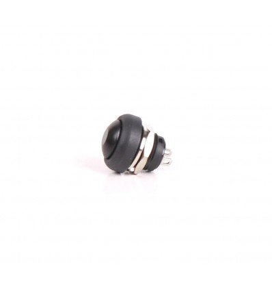 Push 12mm Button - Black