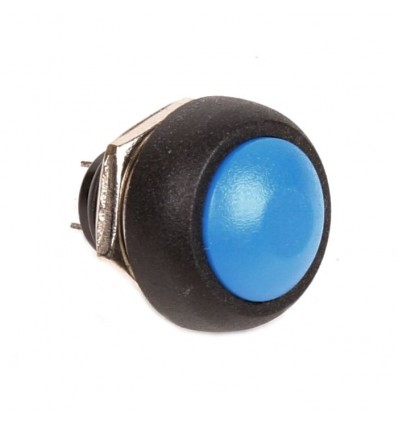 Push 12mm Button - Blue