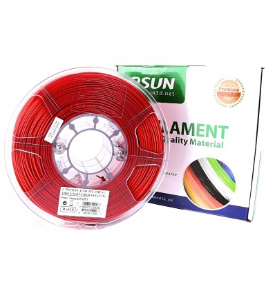 eSUN PLA+ Filament - 1.75mm Fire Engine Red 1kg