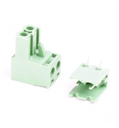 Ramps 12V PCB Connector - Female (Green) - 2PACK