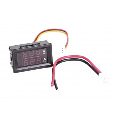 Dual Display Voltage and Current Meter - 100V 100A