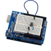 Arduino UNO ProtoShield with Breadboard - Basic Circuit
