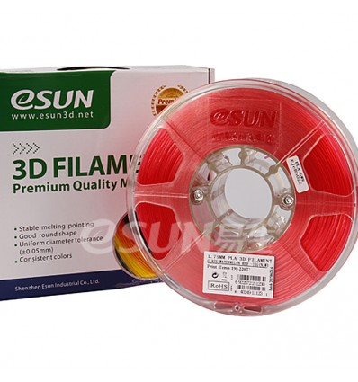 eSUN PLA Filament - 1.75mm Red Watermelon Transparent 0.5kg
