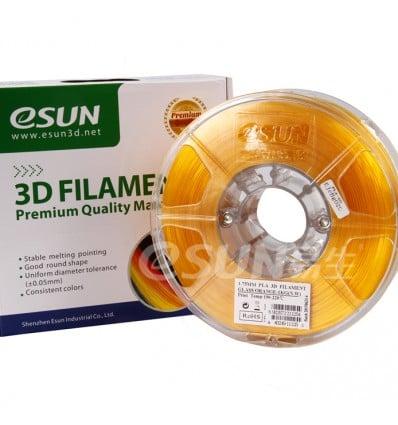 eSUN PLA Filament - 1.75mm Orange Transparent 0.5kg