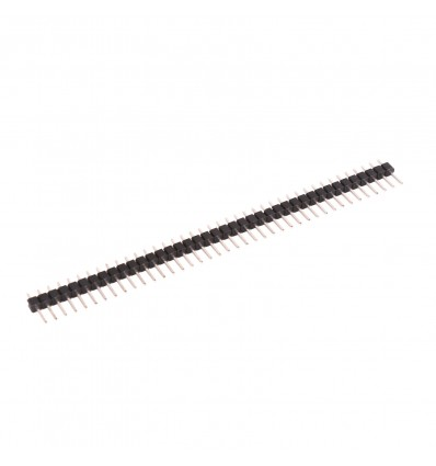 40 Pin 2.54mm Straight SIL Pin Header - Male - Cover