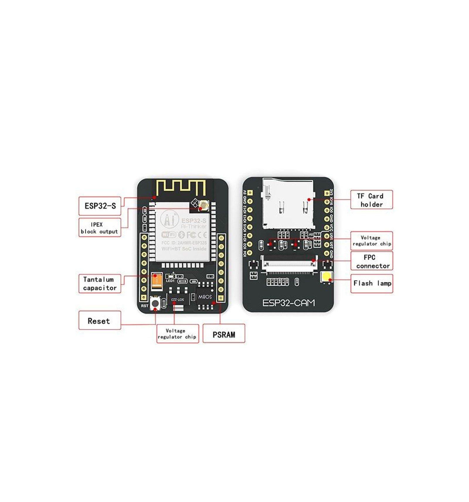 ESP32-CAM | WiFi + Bluetooth Camera Development Board