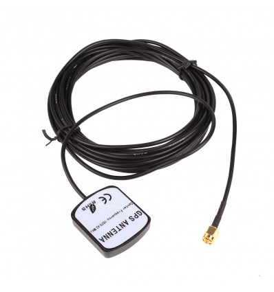 Active GPS Antenna - 6m RG174 Cable, SMA Plug, Magnetic Base
