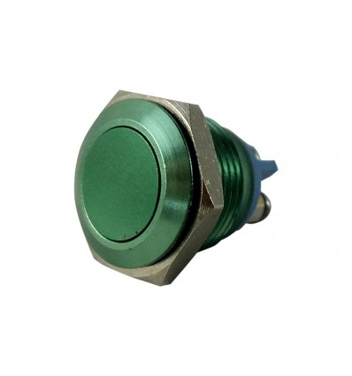 Metal Push Green 16mm Anti Vandal