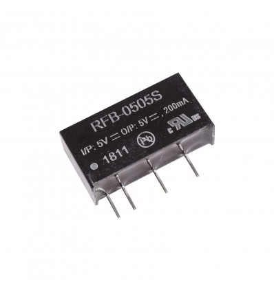 Recom RFB 1W Isolated DC-DC Converter - 5V In/Out, 200mA - Cover